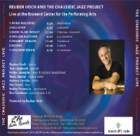 Back Cover for the Live CD at BCPA - 2001